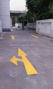 Thermoplastic road marking services Tonson Tower