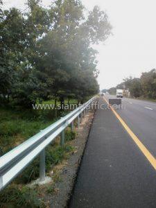 Traffic guard rails Huai Sai Tai to Wang Yao Prachuap Khiri Khan Highway