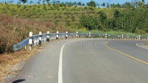 Traffic guardrail Pak Huai Oi to Wang Ping Phrae Highway