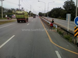 W beam guard rail crash barrier Huachinsi to Paktho Samutsongkram Highway