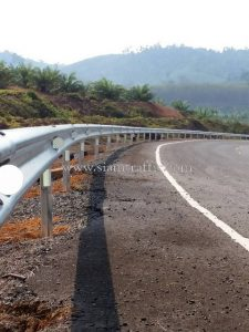 guardrail กรมทางหลวง แขวงทางหลวงตราด ปริมาณงาน 708 เมตร