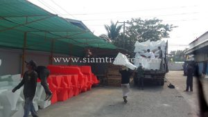 Water filled road barriers export to Cambodia
