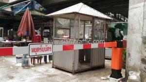 Car barrier near Suvarnabhumi Airport Rail Link Ratchaprarop Station