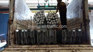 Guardrail for road Amphoe Wiang Sa Nan Province