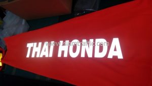 Orange wind sock Thai Honda