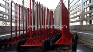 Road traffic barriers and street cones Centralplaza Mahachai