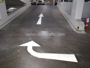Pavement markings at Chularat 3 International hospital