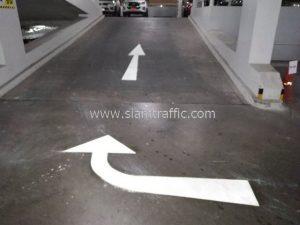 รับตีเส้นจราจรทางม้าลาย และลูกศร ที่โรงพยาบาลจุฬารัตน์ 3