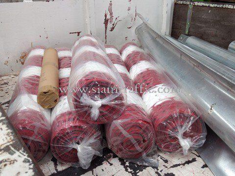 การ์ดเรล รั้วตาข่ายพลาสติก สติ๊กเกอร์สะท้อนแสง ปูนซิเมนต์ไทย