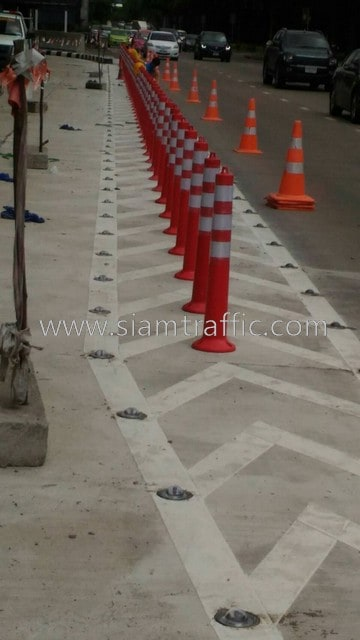 Paint road marking and traffic sign and guardrail Central Festival East Ville