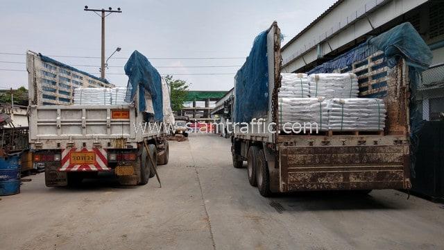 สี thermoplastic ปริมาณ 30 ตัน ส่งไปที่เมืองเมียวดี ประเทศพม่า