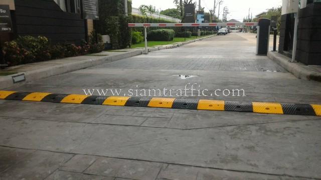 Rubber driveway speed bump Pruksatown Next Loft Bangna km.5