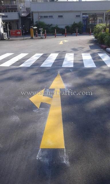 รับเหมาตีเส้นถนนด้วยสีเทอร์โมพลาสติก เอเชียทีค ถนนเจริญกรุง