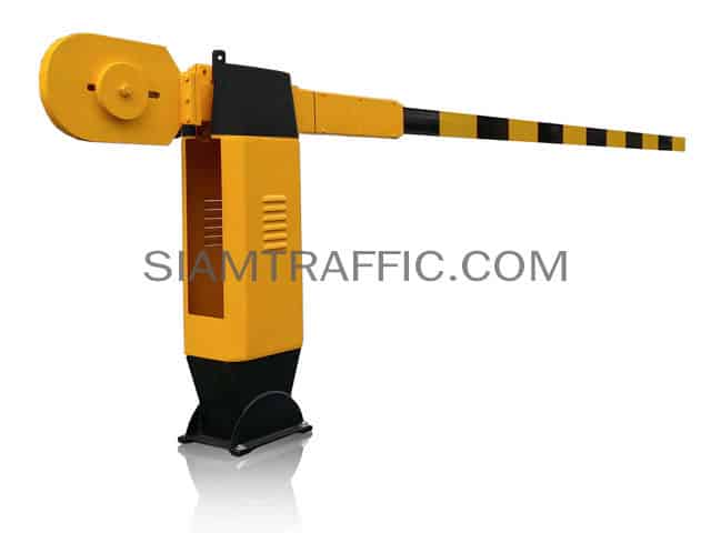 Manual traffic barrier  black-yellow