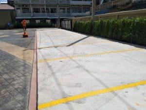 Car park road line marking at Sriyan