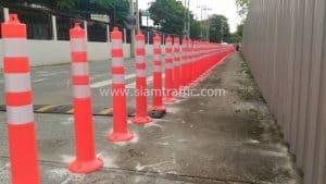 Reflective traffic posts installation at Lycée Français International de Bangkok