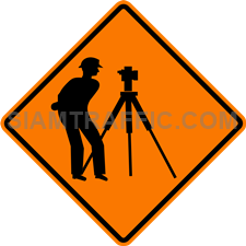2.1-1 Construction sign – Road survey ahead.