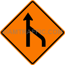 2.1-20 Construction sign – End of right lane (form 1 lane).