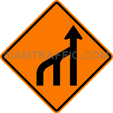 2.1-23 Construction sign – End of left lanes (form 1 lane).