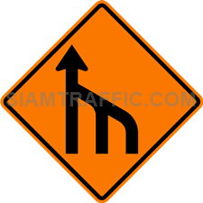 2.1-24 Construction sign – End of right lanes (form 1 lane).