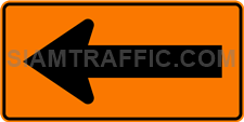 "2.1-25 Construction sign ""Curve marker"" – Used to install the traffic-changing areas in the direction pointing to the driver pedestrian slow down and increase alertness."