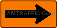 "2.1-26 Construction sign ""Curve marker"" – Used to install the traffic-changing areas in the direction pointing to the driver pedestrian slow down and increase alertness."