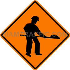 "2.1-3 Construction Signs ""Road Work"" – There are workers working close to or on the road surface."