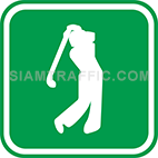 Green tourist signs: Golf Courses