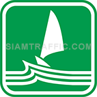 Green tourist signs: Sea