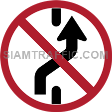 Regulatory Sign: No changing to right lane