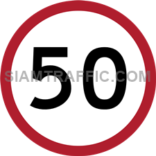 "Regulatory Sign: ""Maximum Speed Limit"" Drivers of vehicles are prohibited to exceed the speed limit specified on the sign, until they reach the end of the signage area."