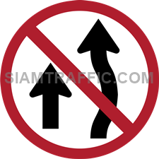 "Regulatory Sign: ""No Overtaking"" Drivers of vehicle are not allowed to overtake any vehicle in then front in the designated area from the sign."