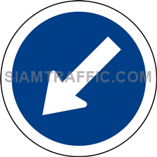 "Regulatory Sign: ""Keep Left"" Drivers of vehicles must drive to the left of the sign."
