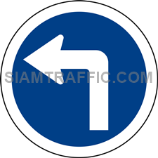 "Regulatory Sign: ""Left Turn"" Drivers of vehicles are allowed to make a left turn."