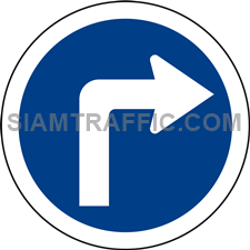 "Regulatory Sign: ""Right Turn"" Drivers of vehicles are allowed to make a right turn."