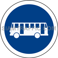 Regulatory Sign: Buses only