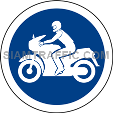 Regulatory Sign: Motorcycles only