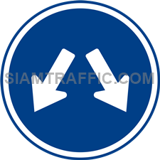 Regulatory Sign: Pass on either side. (Department of Rural Roads Standards)