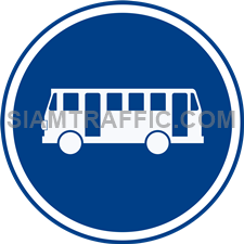 Regulatory Sign: Buses only (Department of Rural Roads Standards)