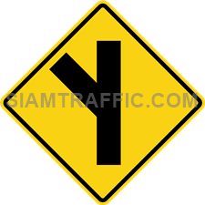 "2-19 Signs Warning ""Angle Side Road Right"""