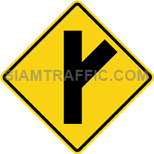 "2-20 Signs Warning ""Angle Side Road Left"""