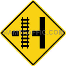 "2-30 Signs Of Warning ""Railway crossing on next side road"""