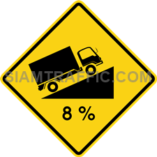 "2-33 Sign Warning ""Steep Climb"" – The way ahead is a steep climb up hill or mountain, which might obstruct the view of the oncoming traffic. Drive slowly, try to keep to the left of way and be careful of the oncoming traffic."