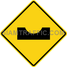 "2-37 Sign Warning ""Road Dip"" –  Forward, change the level suddenly or as a puddles."