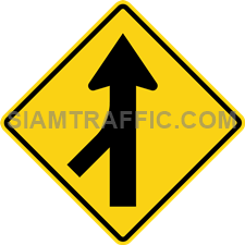 "2-46 Work Signs ""Merge-Left"" – The way ahead will be merged from the left. Drivers of vehicles must drive slowly and be careful"