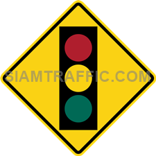 "2-53 Signs Of Warning ""Traffic Light Ahead"" – Traffic light coming up ahead, drivers of vehicles are required to slow down the vehicle to prepare to follow the traffic light."