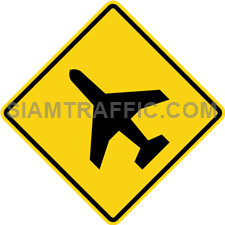 "2-59 Work Signs ""Low-flying aircraft"" – At the front, approach the airport, or there may be a low-rise aircraft to the driver, stop the car if you see the plane is up or down through the front."