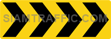 """2-64 Construction Signs """"Curve marker"""" – Multiple chevrons are aligned pointing to the right."""