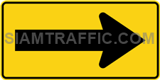 "2-65 Warning Signs Danger ""One Direction Arrow"" – The way is diverted in the direction of the arrow. Drivers must drive slowly and carefully."