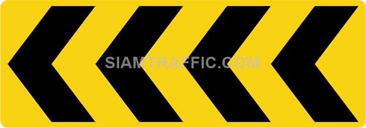 "2-67 Construction Signs ""Curve marker"" – Multiple chevrons are aligned pointing to the right."